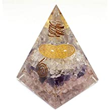 Orgone Pyramid - Rose Quartz-Crystal-Amethyst Pyramid for Healing - Orgone Energy Generator - Orgonite Pyramids for Emf Protection - Healing Stones Crystal Chakra - Chakra Crystal - By Agate Jewelry