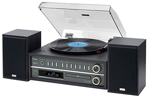 TEAC MC-D800 20-watt Turntable System with AM/FM/CD/Wireless Technology (Black)