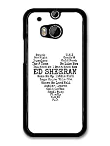 AMAF ? Accessories Ed Sheeran Songs Heart Lyrics case for HTC One M8 by mcsharks