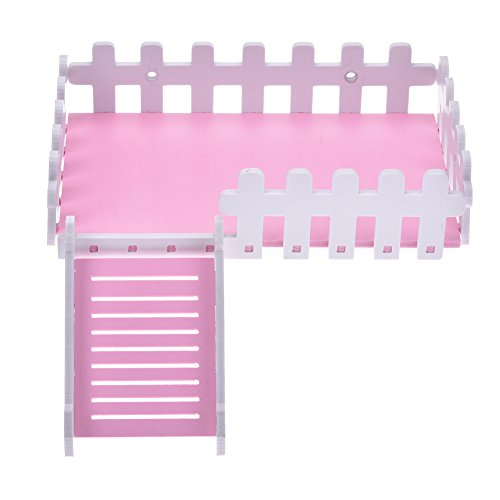 Yunt Pet Toy Platform Cute Climbing Kits Hamster Crawling Ladder Swing Platform Toys for Hamster Hedgehogs Totoro Squirrel Pink by Yunt (Image #2)