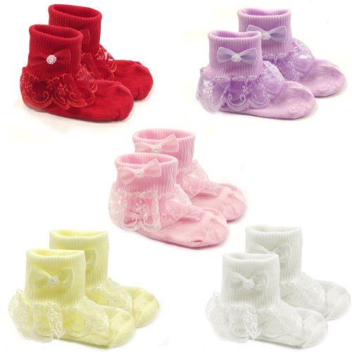 Wrapables Snowy Ruffle Socks Toddler