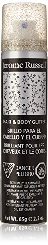 Jerome Russell Hair and Body Glitter Spray, Silver, 2.2 Fluid Ounce]()
