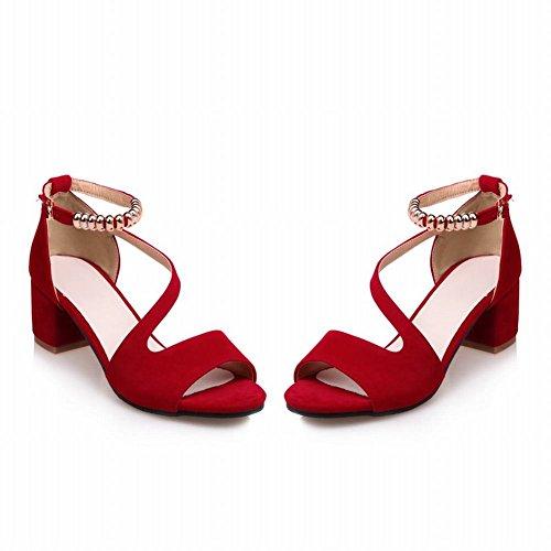 Sandali Elegante metà col Donna e Fashion MissSaSa Rosso Tacco BznwpaxBq