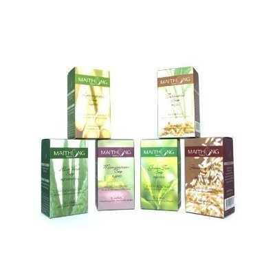 Top 6 Maithong Natural Herbal Soap (100g Each); Lemongrass, Turmeric, Aloe Vera, Mangosteen, Green Tea, Jasmine...