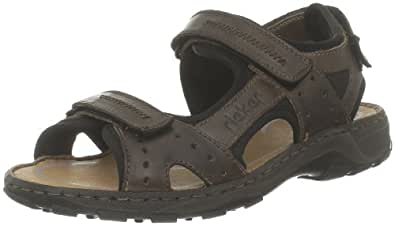 Rieker Christian 26061 Leather Nougat Black Chestnut Mens Sandals 7.5 UK