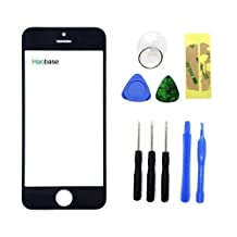Haobase Black Touch Screen Front Glass Lens Replacement For Apple iPhone 5 5C 5S +Free TOOL