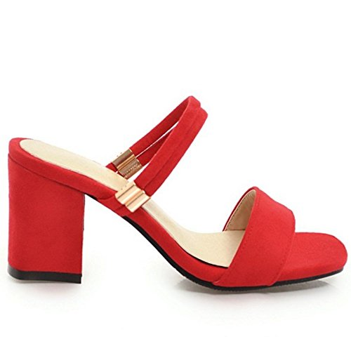 Croisee Aicciaizzi Femmes Red Sandales Sangle qqE04xH