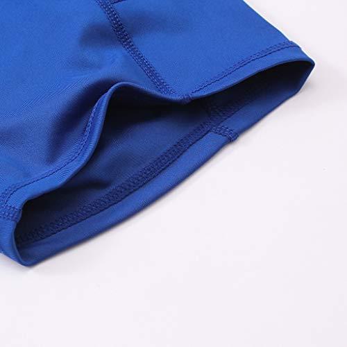 Garish  Women's High Waist Yoga Short Abdomen Control Training Running Yoga Pants Blue by Garish (Image #3)