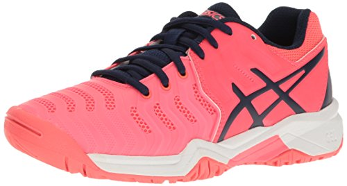 ASICS Girls' Gel-Resolution 7 GS Skate Shoe, Diva Pink/Indigo Blue/White, 6.5 M US Big Kid (Junior Volleyball Shoes)