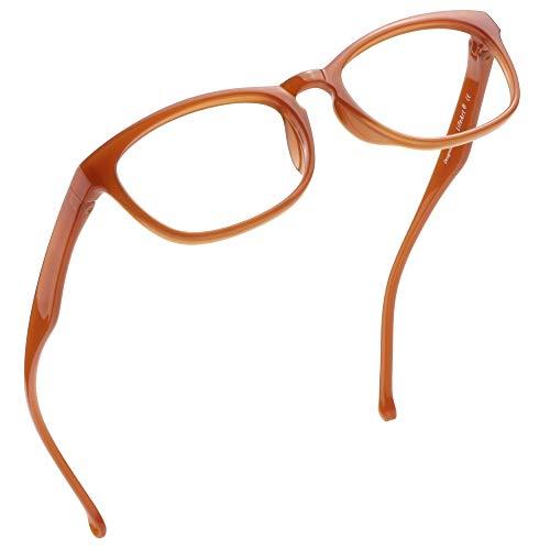LifeArt Blue Light Blocking Glasses, Anti Eyestrain, Computer Reading Glasses, Gaming Glasses, TV Glasses for Women Men, Anti Glare (Orange, 0.25 Magnification)