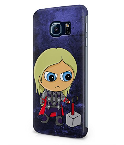 Chibi Thor The Avengers Superhero Plastic Snap-On Case Cover Shell For Samsung Galaxy S6 EDGE