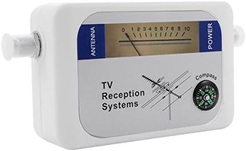SovelyBoFan DVB-T Finder Antena Digital Terrestre TV Antena Medidor de Intensidad de Se?Al Blanco