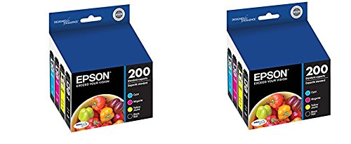 Epson T200120-BCS DURABrite Ultra Black & Color Combo Pack Standard Capacity Cartridge Ink rKlyQU, 2 (Combo Pack Standard)