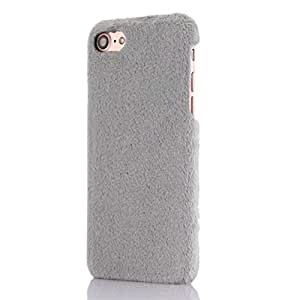 Soft Warm Rabbit Fur Back Cover Shell for Apple iPhone 7 Plus/ 8 Plus Grey MB-CV023