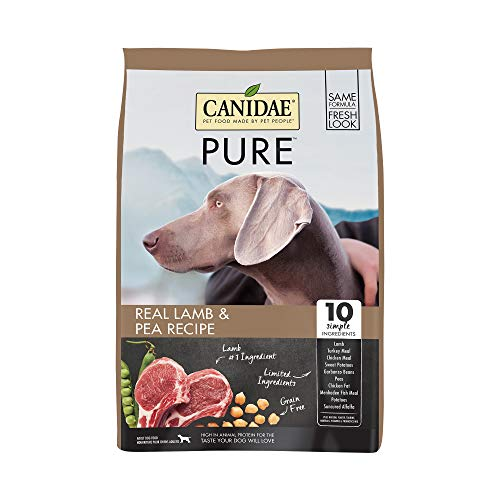 (CANIDAE PURE Real Lamb & Pea Recipe Dry Dog Food 24lbs)