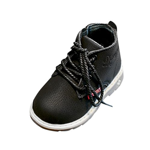 Unisex Baby Fashion Martin Sneaker Boots, Weiyun Children Lace Up Casual Shoes Baby Walkers(1.5~6T) (4.0T, Black) Review