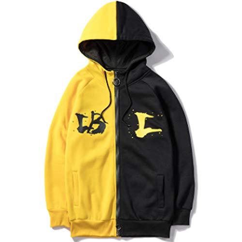 XinDao Mens Hoodie Men's Heather French Terry Full Zip Hoodie Hoodie Yellow US (Pigment Dyed Cotton Full Zip)
