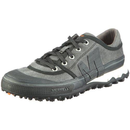 Merrell PRIMED LACE - Zapatillas de lino para hombre Negro