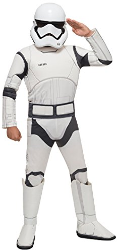 [Star Wars VII: The Force Awakens Deluxe Child's Stormtrooper Costume and Mask, Medium] (Storm Halloween Costume Ideas)