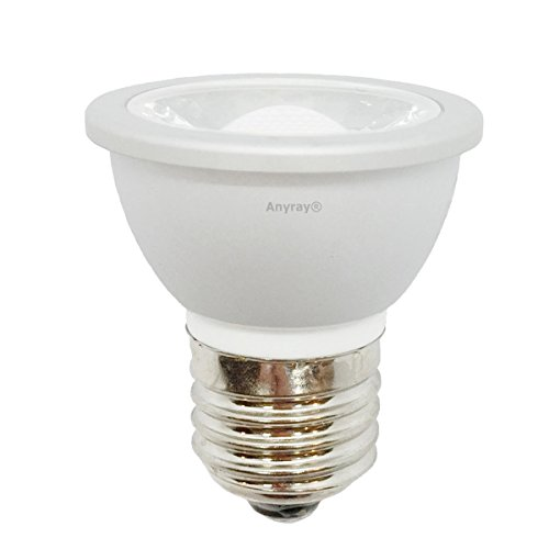 1-LED HR16 120V E27 MR-16 JDR C Light Bulb HR-16 Hood Lamp Short Neck E26 (Cool White)