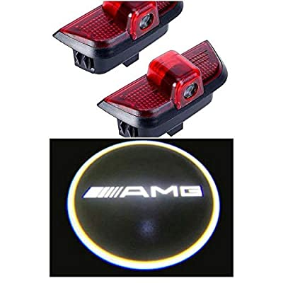 AutoAddonsUSA 2PCS Mercedes Benz Compatible C-Class Courtesy Car Door LED Shadow Light Projector for Mercedes C200/C230/C260/C280/C300 Ghost Welcome Lamp Accessories (for AMG Logo): Automotive [5Bkhe1513001]