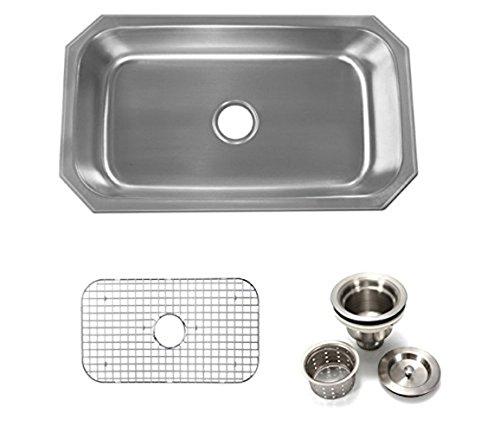 31.5 Undermount Single Bowl Sink 16 Gauge Proofing By SuperSuper
