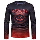 Men Autumn Winter Halloween Printing Top Men's Long-Sleeved T-Shirt Blouse dr t Shirt Packers t Shirt Dry t Shirt t Shirt Men Wool t Shirt