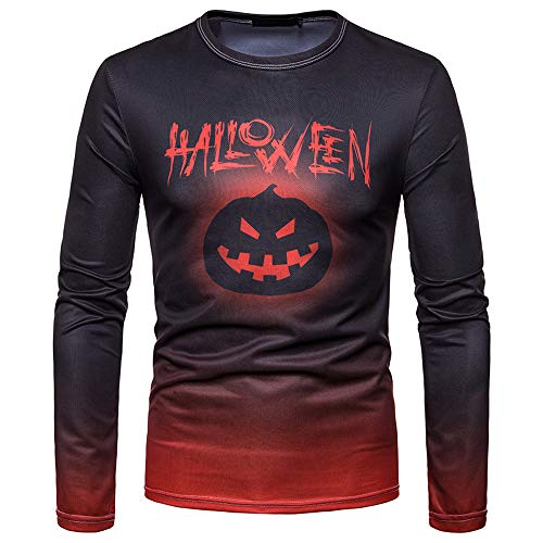 iHPH7 Men Autumn Winter Halloween Printing Top Men's Long-Sleeved T-Shirt Blouse – DiZiSports Store