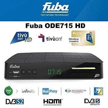 Decoder Fuba ode715hd Tivusat tivuon satélite con tarjeta HD ...