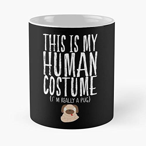 This Is My Human Costume I Am Really A Dog Pug - Best Gift Coffee Mugs 11 Oz Father -