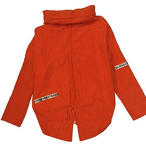 QFFL fangshaifu 女性の夏の短い日の保護服/ルーズな純粋な色の学生ファッションショール/行く薄いコート/シンプルなエアコンシャツ(2色可能) (色 : A, サイズ さいず : XXL)