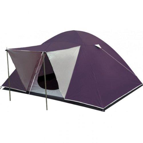 Garden Pleasure Campingzelt RIGI mit Vordach Zelt für 4 Personen Camping Urlaub Polyester lila