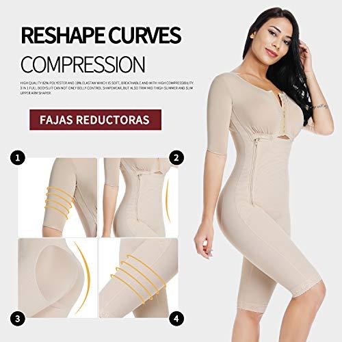 c39d30954c006 MISS MOLY Bodysuit Body Shaper Post Surgery Seamless Fajas Compression  Garment Full Shapewear Black