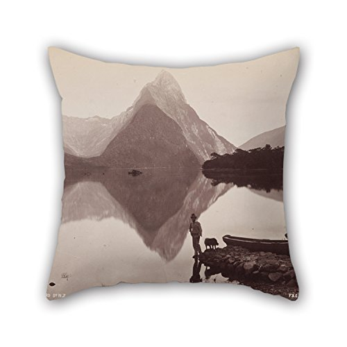 bestseason-cushion-cases-of-oil-painting-frank-coxhead-mitre-peak-milford-sound-nz-from-the-album-au