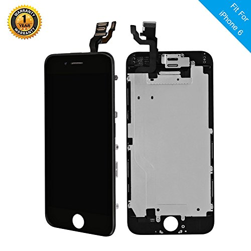 Full Assembly LCD Display Touch Screen Digitizer Replacement Compatibal For iPhone 6 4.7 Inch Repair Kit With Open Tools Black