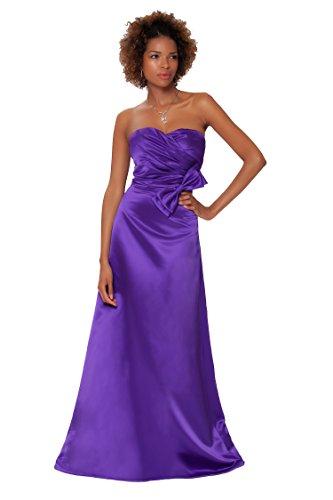 SEXYHER Gorgeous Encuadre de cuerpo entero sin tirantes de las damas de honor vestido de noche formal - EDJ1457 CadburyPurple