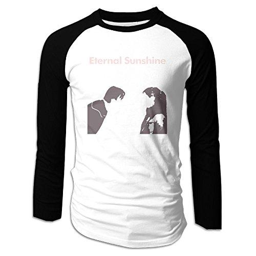 Creamfly Mens Eternal Sunshine Long Sleeve Raglan Baseball Tshirt S