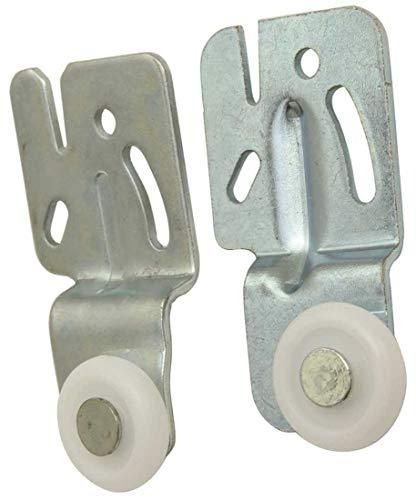Anvil Mark 801682-BNT 7/8 in. 1/4 in. Wardrobe Door Front Roller Assembly, Plastic Convex Wheel Offset ()