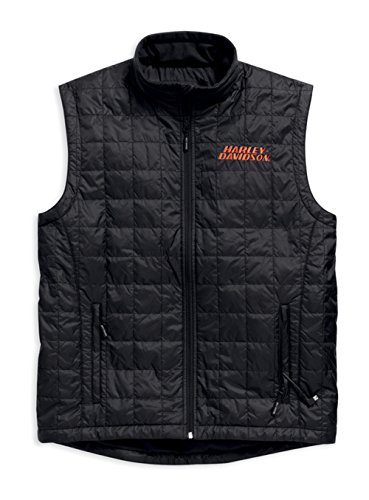Harley-Davidson Mens Stimulate Heated Black Vest (X-Large)