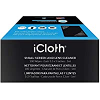 iCloth Small Lens Screen Cleaning Wipes, Box of 100 -...