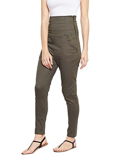 792a4a1eff7c4 Castle Women's Cotton High Waist Spandex Jeggings (Olive, 28): Amazon.in:  Clothing & Accessories