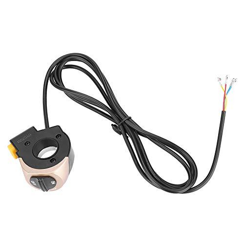 VGEBY E-Bike Headlight Horn Switch, Electric Bike Front Lamp Horn Switch Electrical System