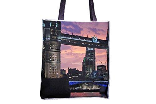 London, Tower Bridge, Bridge, Monument allover impreso Totes, populares bolsitas de bolso de mano para mujer, bolsa de bolso de mano profesional, grandes bolsas de bolso de mano profesional, mejores b