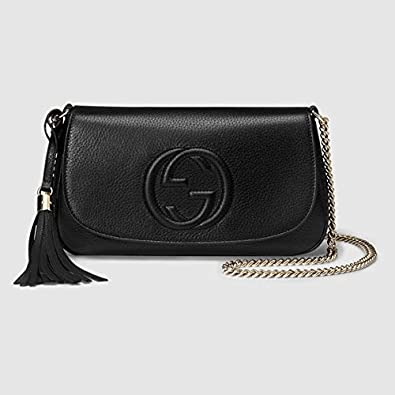 Replica - Gucci Soho leather shoulder bag  Handbags  Amazon.com 8af3a0f5e37f0