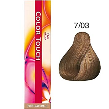 Wella Color Touch Hair Colour 7/03 Medium Natural Gold Blonde 60ml ...