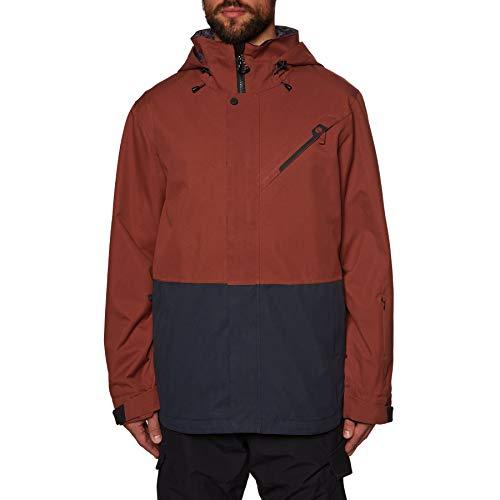 Bonfire Snowboarding Jacket - Bonfire Ether Jacket - Men's Burgundy/Indigo Medium
