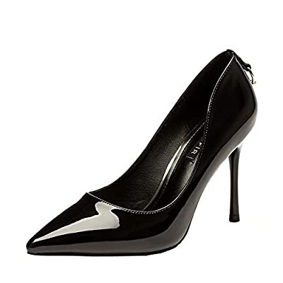 Ryse Women's Fashionable Delicate Buckle Noble Elegant Temperament High Heels Pointy Shoes