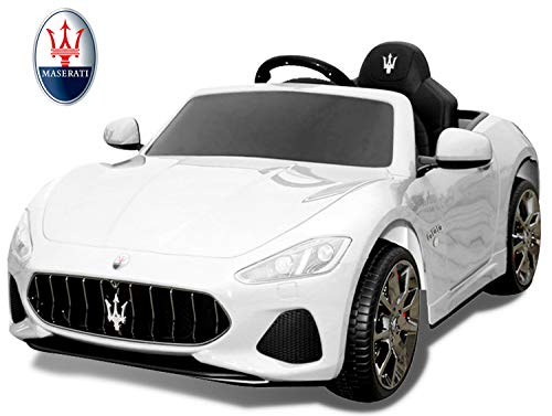 TAMCO Ride On Car for Kids, Maserati Roadster Electric Power Car Toy, MP3 FM Radio with Bluetooth Connection, 3 Speed Control, 4 Wheel Suspension, Giant Front and Rear Light, Max Load 77 LB