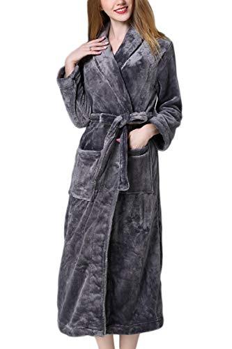 Le Grigio Uomini Gli Scurocolor Vello E Inverno Pigiama Fasumava Kimono In E Donne Dimensioni HqFw7wxd4g