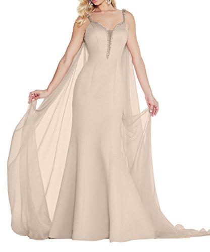Partykleider Festlichkleider Lang Charmant Meerjungfrau Brautjungfernkleider Formal Damen Beige Neu Abendkleider 2018 XRRngHY